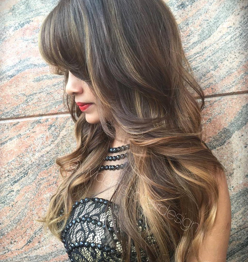 Remarkable 40 Cute And Effortless Long Layered Haircuts With Bangs Short Hairstyles Gunalazisus