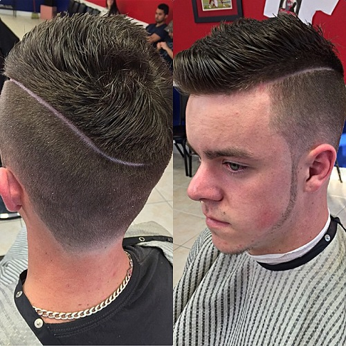 latest side parted men hairstyles