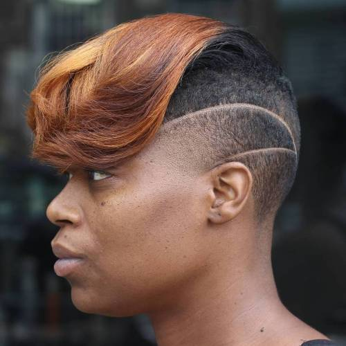 African American Women's Half Shaved Hairstyle