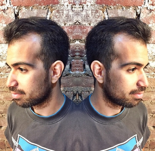 quiff hairstyle for men with receding hairline
