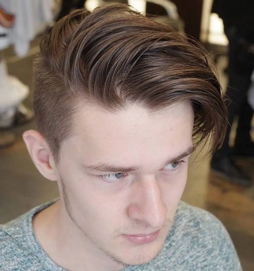 Long Top Short Sides Hairstyle For Guys