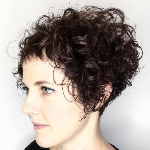 Short Bob For Curly Hair
