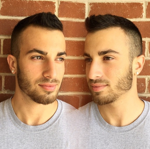trendy short men's haircut