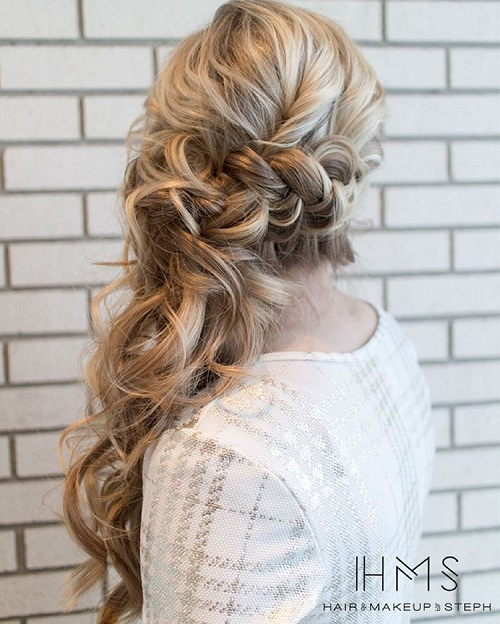 Braided Curly Wedding Hairstyles: 40 Side Ponytails That You Will Love