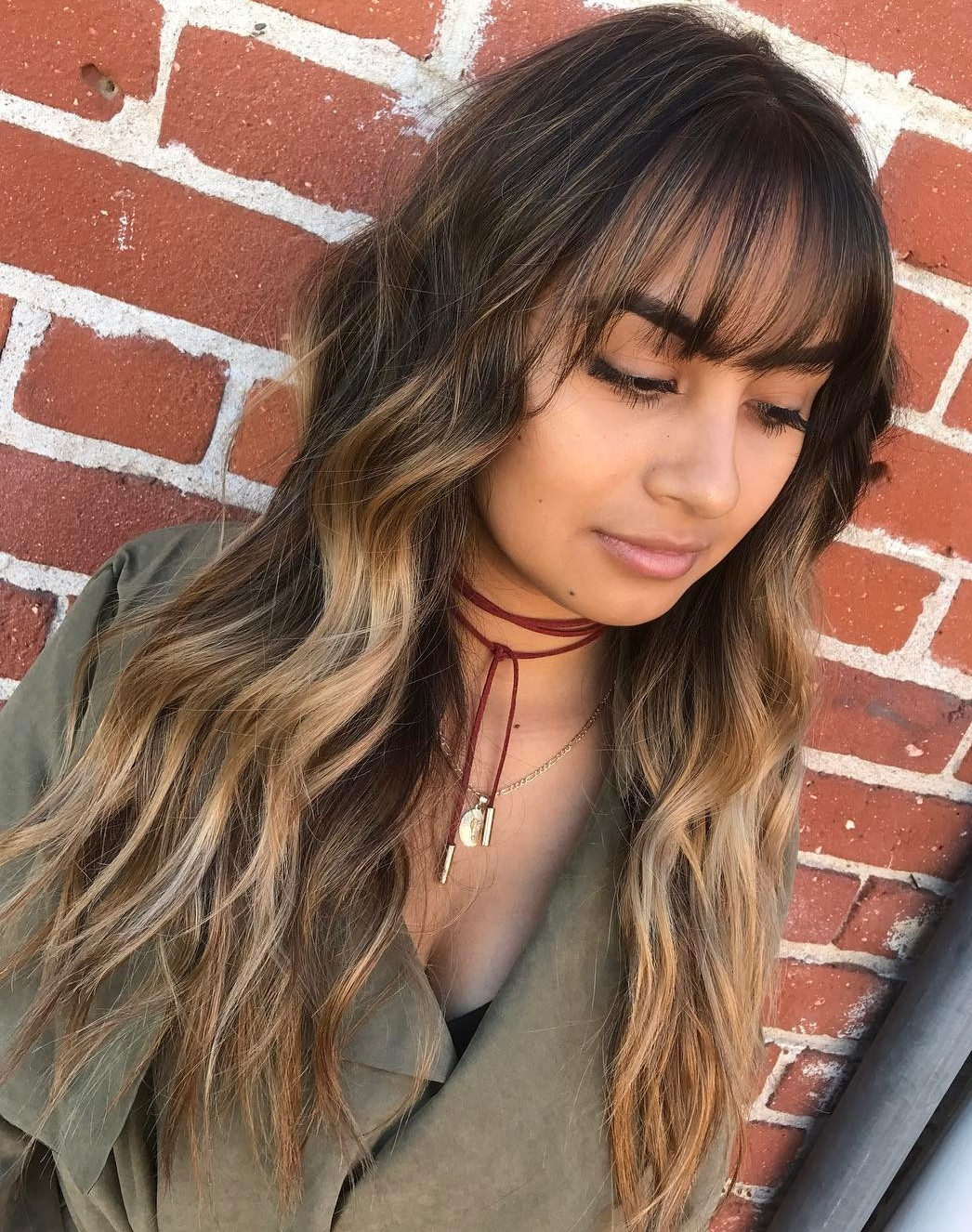 Long Hair With Fringe Bangs Www Pixshark Com Images Galleries With A Bite