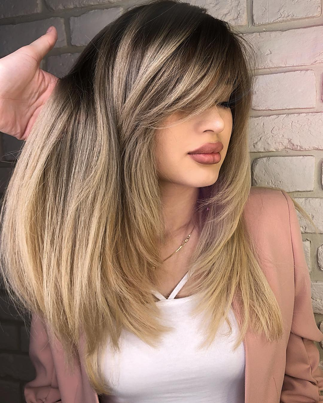 50 Cute Long Layered Haircuts with Bangs 2019