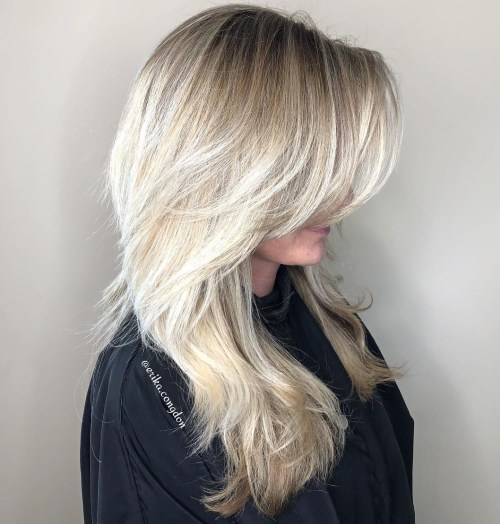 Blonde Layers with Lowlights