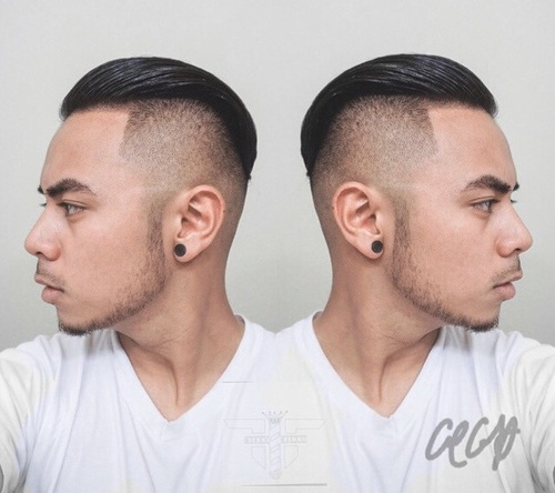 men's shaved sides long top hairstyle