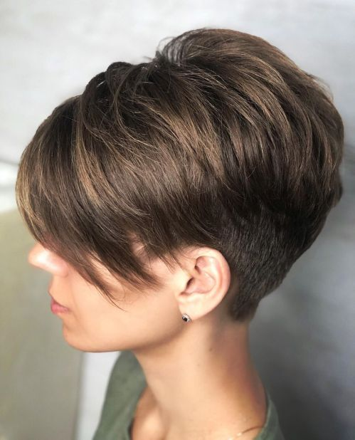 Undercut Pixie Haircut With Bangs