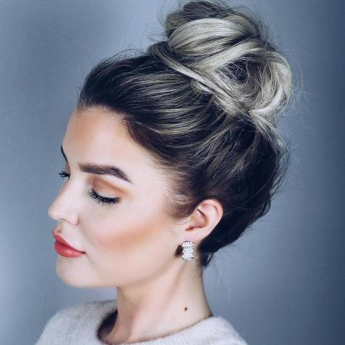 Messy Bun For Shorter Hair