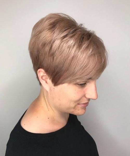 Short Layered Dark Blonde Hairstyle