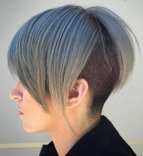 short-to-medium pastel blue undercut hairstyle