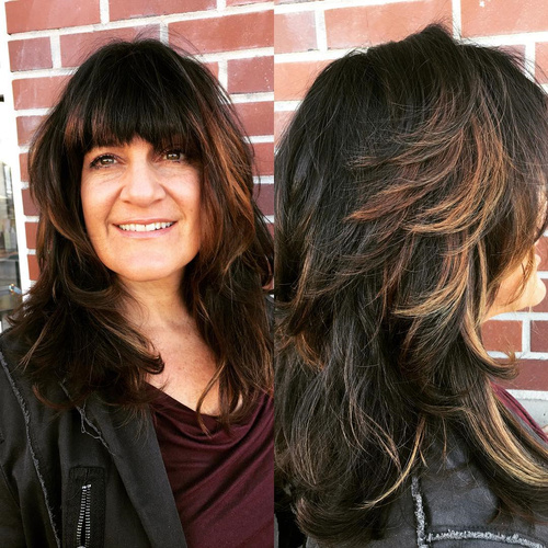 Tremendous 40 Cute And Effortless Long Layered Haircuts With Bangs Short Hairstyles For Black Women Fulllsitofus