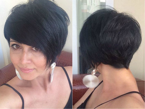 pixie haircut with long bangs pixie haircuts with bangs 50 terrific tapers 9996 | 8 pixie with long layered bangs