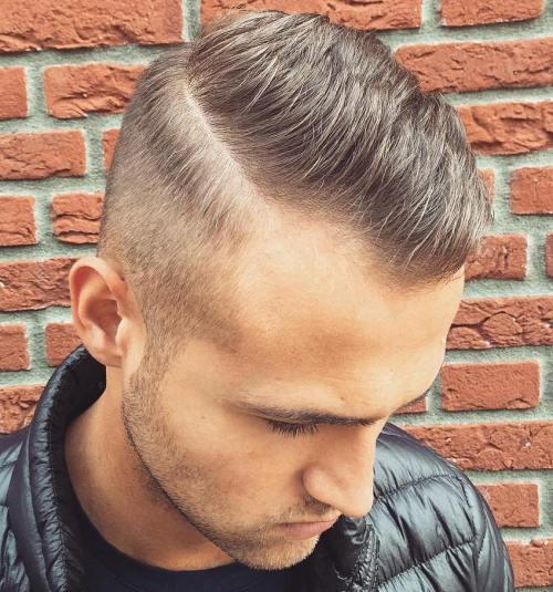 Short Side Part Cut For Receding Hairline - 50 Stylish Hairstyles For Men With Thin Hair