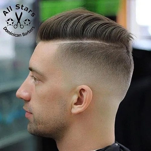 side parted hairstyle for men