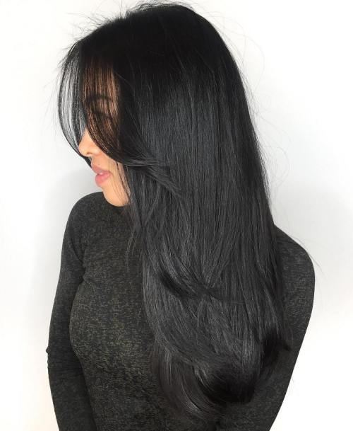 Long Layered Black Hair