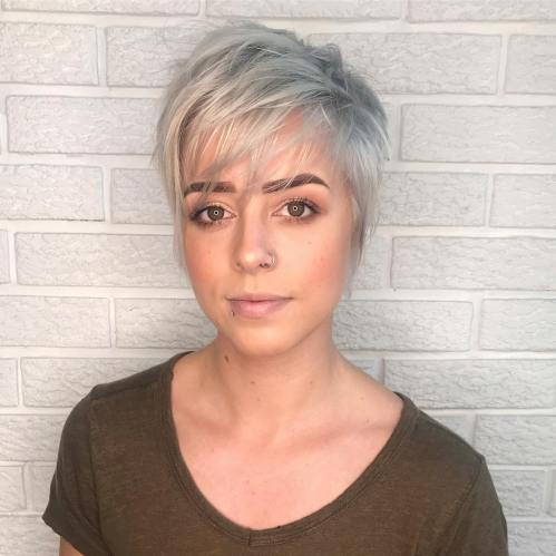 Razored Pixie Cut With Straight Bangs