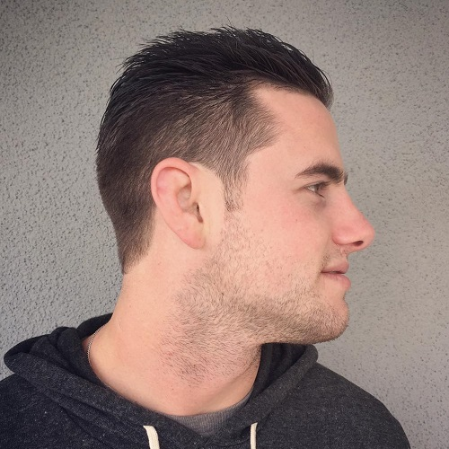 receding hairline hairstyle