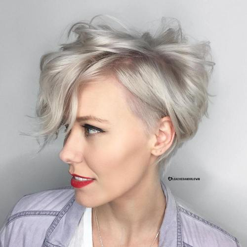 Choppy Ash Blonde Pixie Bob