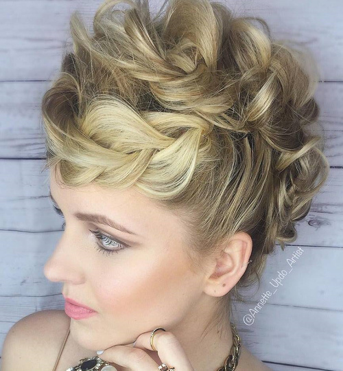 Astonishing 39 Bold And Beautiful Braided Bang Hairstyles Short Hairstyles Gunalazisus