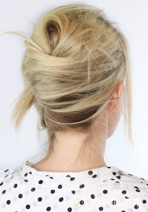 french twist updo with a messy touch