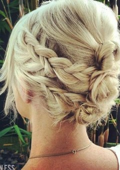 casual braided updo for long hair