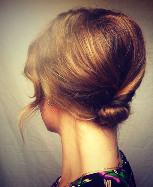 loose updo with a bouffant