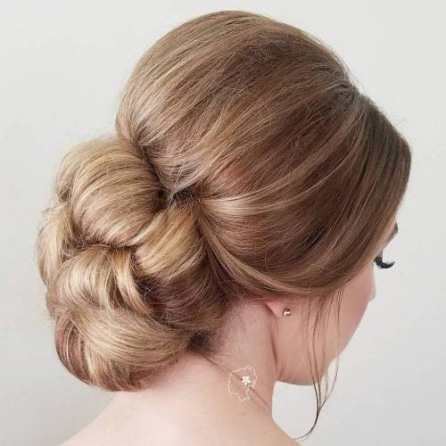 Low Formal Bun Updo