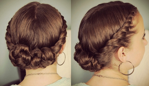 cute homecoming updo