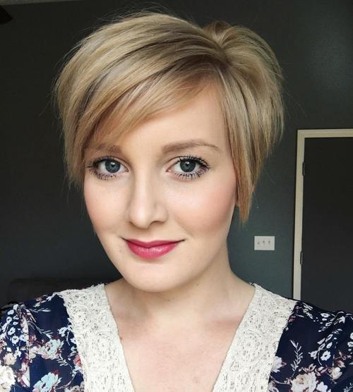 Side Parted Pixie Bob