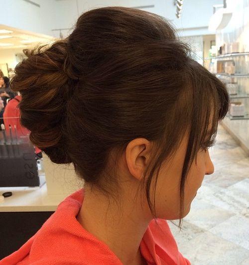 brunette french twist updo