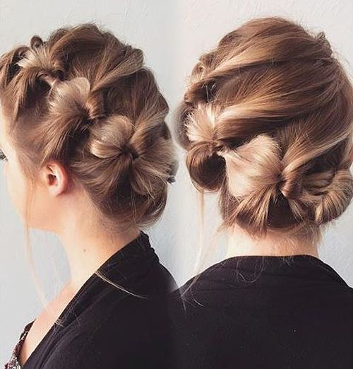 creative knotted updo