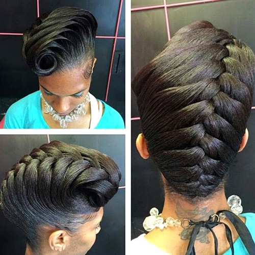 50 cute updos for natural hair formal braided updo for black women urmus Choice Image