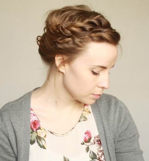 updo with braided front