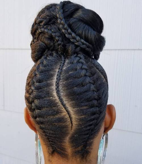 Awesome 50 Updo Hairstyles For Black Women Ranging From Elegant To Eccentric Hairstyle Inspiration Daily Dogsangcom