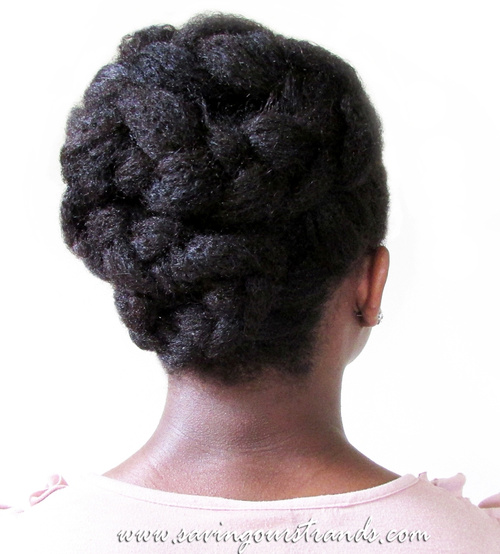braided updo hairstyle for black women