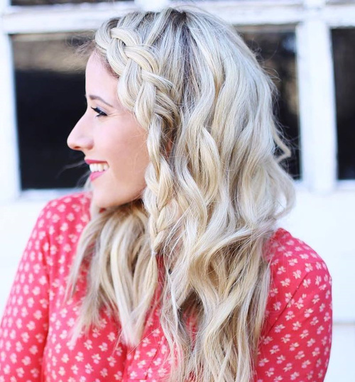 Simple Downdo With A Side Braid