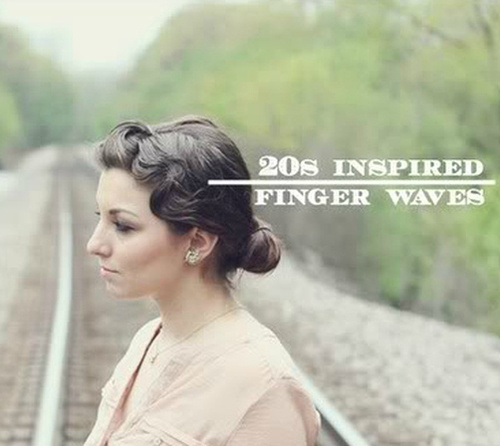 vintage updo with finger waves
