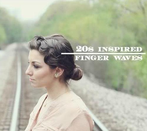 vintage updo with finger waves