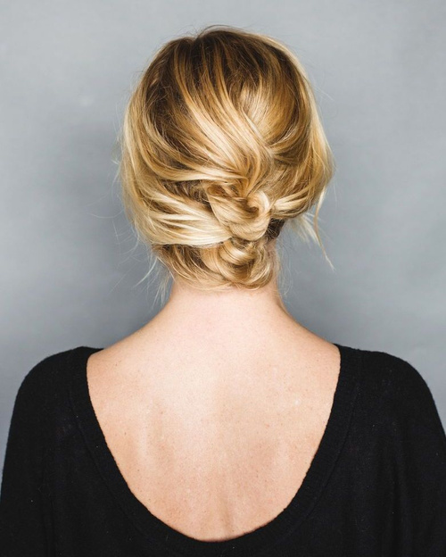 tasy loose updo for short hair