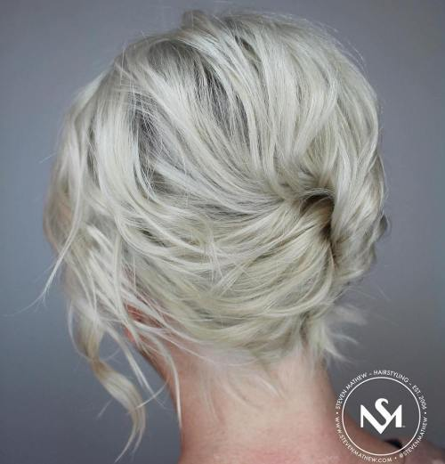 Messy French Twist For Short Hair