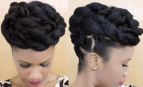 sophisticated updo hairstyle for black women