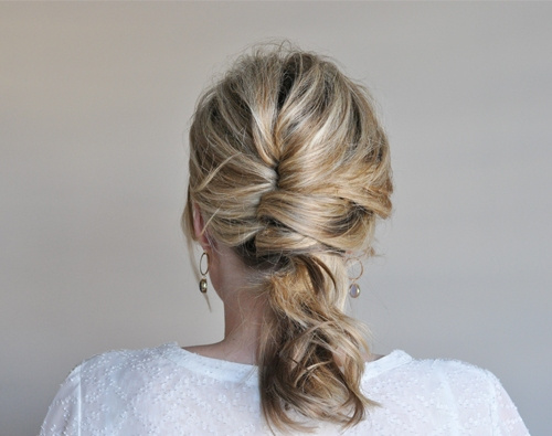 pretty french twist updo