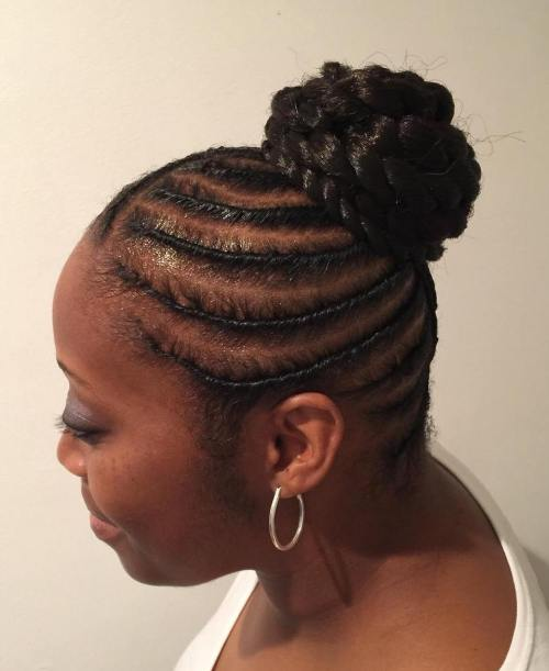 African American Bun With Extensions