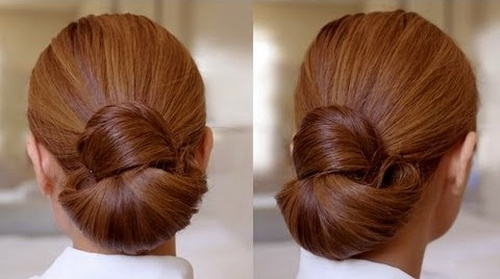 sleek elegant bun updo