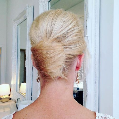 blonde formal french twist
