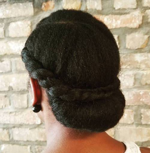 Chignon For Natural Hair