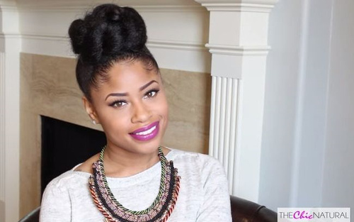 high braided bun updo for natural hair