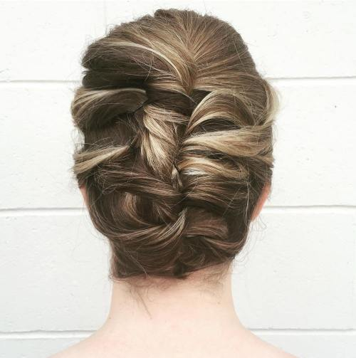 French Twist Updo For Shorter Hair